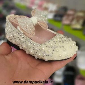 کفش دخترانه طرح مروارید کد 1786